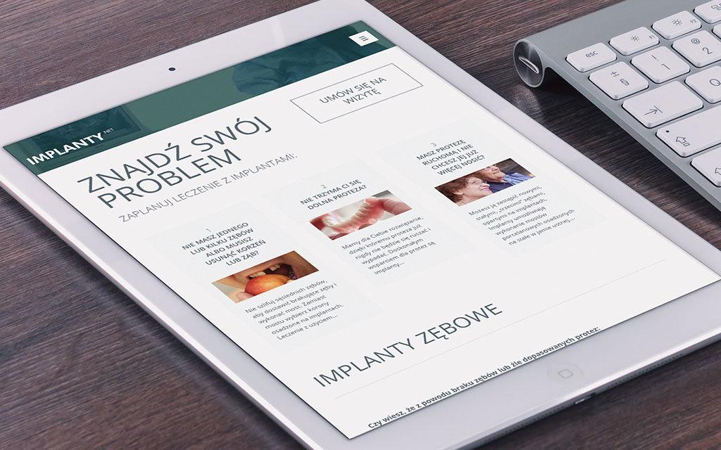 implanty.net - strona www - agencja 4e 3