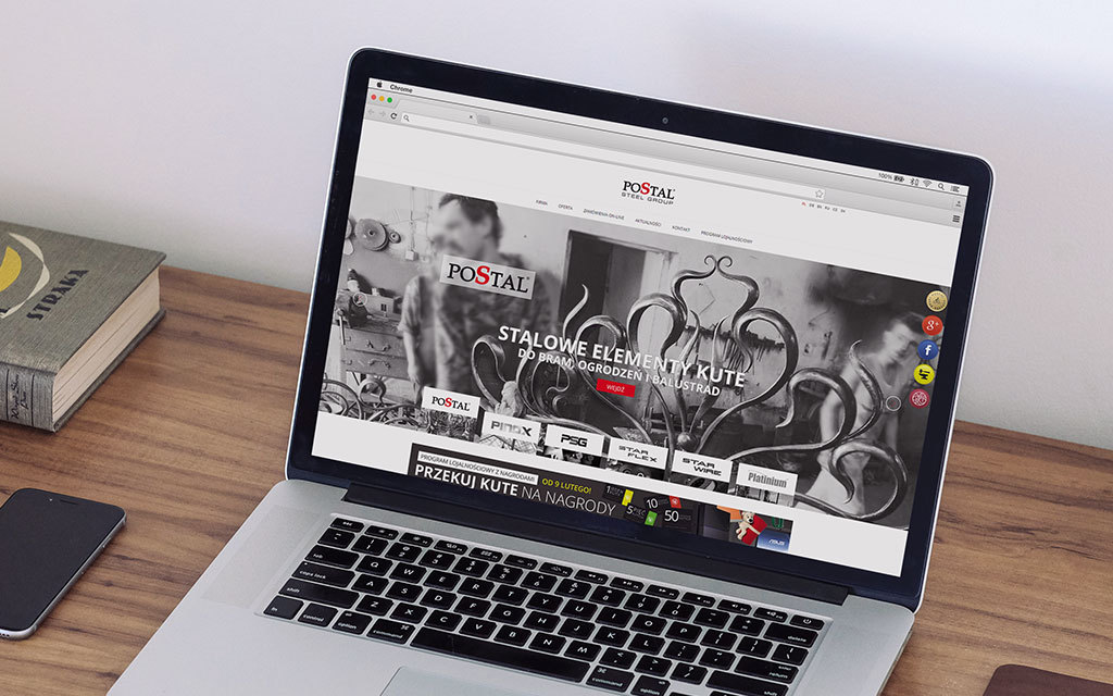 strona internetowa postal - agencja 4e - 1