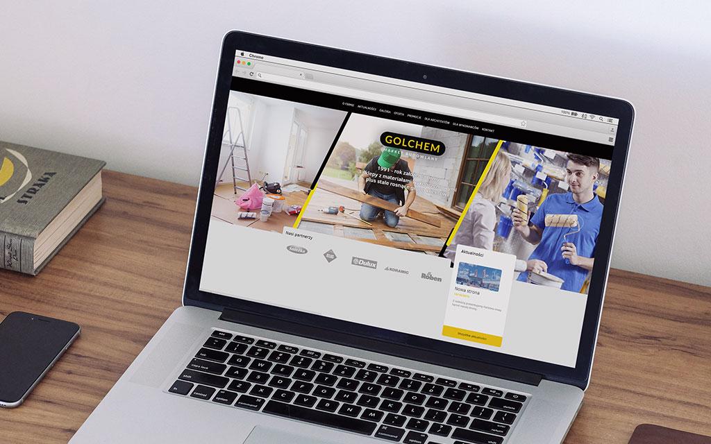 responsywna strona internetowa golchem